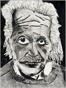 Whites Drawings Posters - Relativity Poster by David Craig