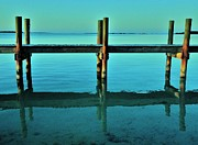 Ocean. Reflection Metal Prints - Relax Metal Print by Benjamin Yeager