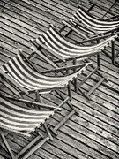 Lounge Chair Prints - Relax BW Print by Martin Bergsma
