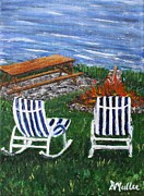 Lawn Chair Posters - Relax Poster by Donna Muller
