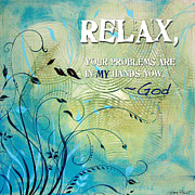 Inspirational Prints - Relax Print by Jean Plout