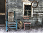 Front Porch Posters - Relax on the Front Porch Poster by Claudette DeRossett
