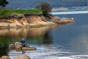 North Fork Photo Framed Prints - Relaxed Fisherman Framed Print by Robert Bales