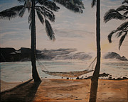 Enjoyment Painting Framed Prints - Relaxing at the Beach Framed Print by Ian Donley