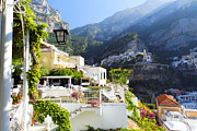 Positano Prints - Relaxing in Positano Print by George Oze