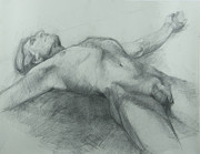 Anatomy Drawings - Release by Cynthia Harvey