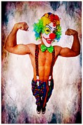 Muscles Mixed Media - Release the Clown by Michael Knight