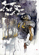 Football Mixed Media Framed Prints - Release the Ravens Framed Print by Michael  Pattison