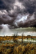 Winter Storm Metal Prints - Relentless Metal Print by Phil Koch