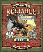 Sporting Art Prints - Reliable Guide Service Sign Print by JQ Licensing
