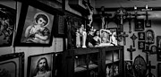 Crucifix Art Photos - Religion And The Curio Shop by Bob Orsillo