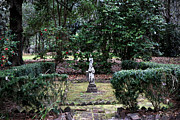 Religious Statues Prints - Religion in the Garden Print by John Rizzuto