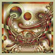 Fractal Orbs Posters - REM Sleep Poster by Wendy J St Christopher