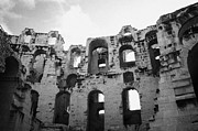 Ancient Rome Art - Remains Of Tiered Arches Of The Old Roman Colloseum At El Jem Tunisia by Joe Fox