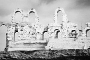 Ancient Rome Art - Remains Of Upper Tiers Of The Old Roman Colloseum At El Jem Tunisia by Joe Fox