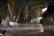 Cave Metal Prints - Remarkable Sea Cave Metal Print by Mike  Dawson