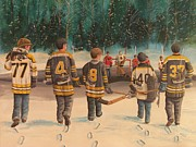 Winter Scene Paintings - Rematch - Stanley Cup 2013 by Ron  Genest
