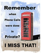 Phone Prints - Remember When . . . Print by Mike McGlothlen