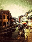 Life In Italy Prints - Remembering Burano Print by Delona Seserman
