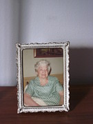Images Of Women Framed Prints - Remembering Grandma Framed Print by Guy Ricketts
