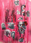 African-american Mixed Media Prints - Remembering  Malcom X Print by Pg Reproductions