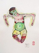 Schiele Drawings - Remembering Schiele by Pg Reproductions