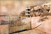 Sand Fences Art - Remembering the Days by East Coast Barrier Islands Betsy A Cutler