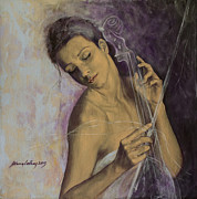 Romance Painting Originals - Remembrance by Dorina  Costras