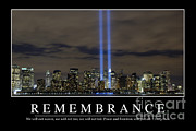 September 11 2001 Metal Prints - Remembrance Inspirational Quote Metal Print by Stocktrek Images