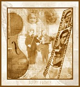 Fiddler Posters - Remembrance of my father Poster by Gun Legler