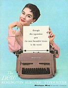 Vintage Posters - Remington 1950s Uk Typewriters Poster by The Advertising Archives