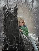Snow Photos - Remme And Rory by Fran J Scott