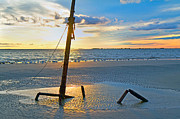 Jekyll Prints - Remnants of the Past Print by Betsy A Cutler East Coast Barrier Islands