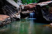 Zion National Park Photos - Remote Falls by Chad Dutson