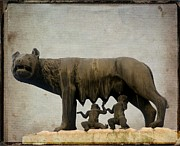 Historic Statue Prints - Remus and romulus Print by Bernard Jaubert