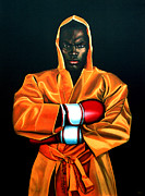 Boxing Painting Prints - Remy Bonjasky Print by Paul  Meijering
