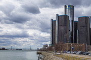 Renaissance Center Framed Prints - Renaissance Center Framed Print by John McGraw