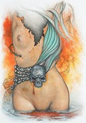 Author Pastels Metal Prints - ReNaissance  Metal Print by Guillaume Bruno
