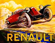 Motorsport Drawings - Renault - Poster by Pg Reproductions