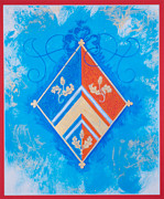 Duchess Painting Originals - Rendition of HRH Duchess Kate Personal Coat of Arms by Andrew Stewart Jamieson