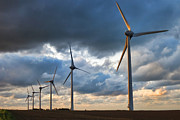 Turbines Photos - Renewable Energy by Olivier Le Queinec