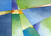 Renewal Paintings - Renewal geometric abstract by Cherilynn Wood
