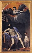 Saint Hope Prints - Reni Guido, St Roch In Prison, 1617 - Print by Everett
