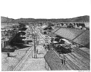 Railroad Drawings - Reno 1884 by Bruce Kay