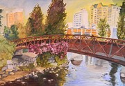 Reno Nevada Painting Prints - Reno Bridge II Print by Tricia PoulosLeonard