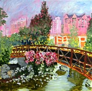 Reno Nevada Painting Prints - Reno Bridge III Print by Tricia PoulosLeonard