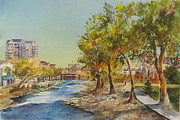 Reno Nevada Painting Prints - Reno River Walk Print by Kittie Deemer