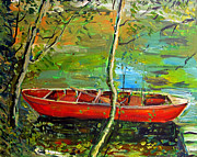 Water Reflections Originals - Renoirs Canoe by Charlie Spear