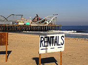 Amusements Prints - Rentals at the Shore Print by Allen Beilschmidt