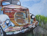 Rusty Truck Paintings - REO Speedwagon by Kathy Stiber